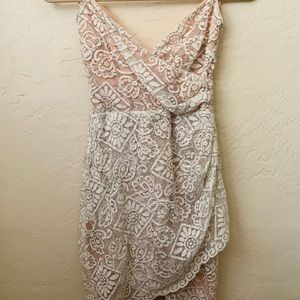 Lush white lace detailed dress